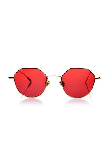 Optoline Opc 17050 07 Oval  Gövde Polarize Cam Kadın Güneş Gözlüğü Kırmızı